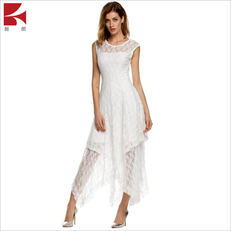 Simple blanc <span class=keywords><strong>Bustier</strong></span> romantique respirant <span class=keywords><strong>robe</strong></span> creuse