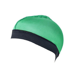 China 12 color Silk breathable top Wide brimmed elastic headband wig dome cap