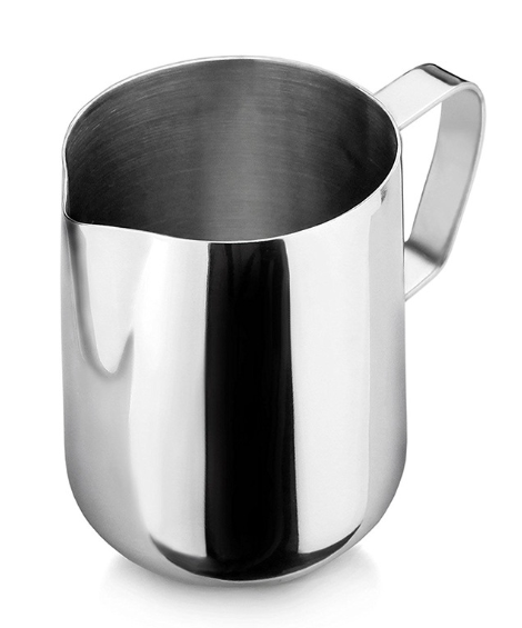 350ml Stainless Steel Coffee Milk Jug Silver Barista Milk Frothing Pitcher