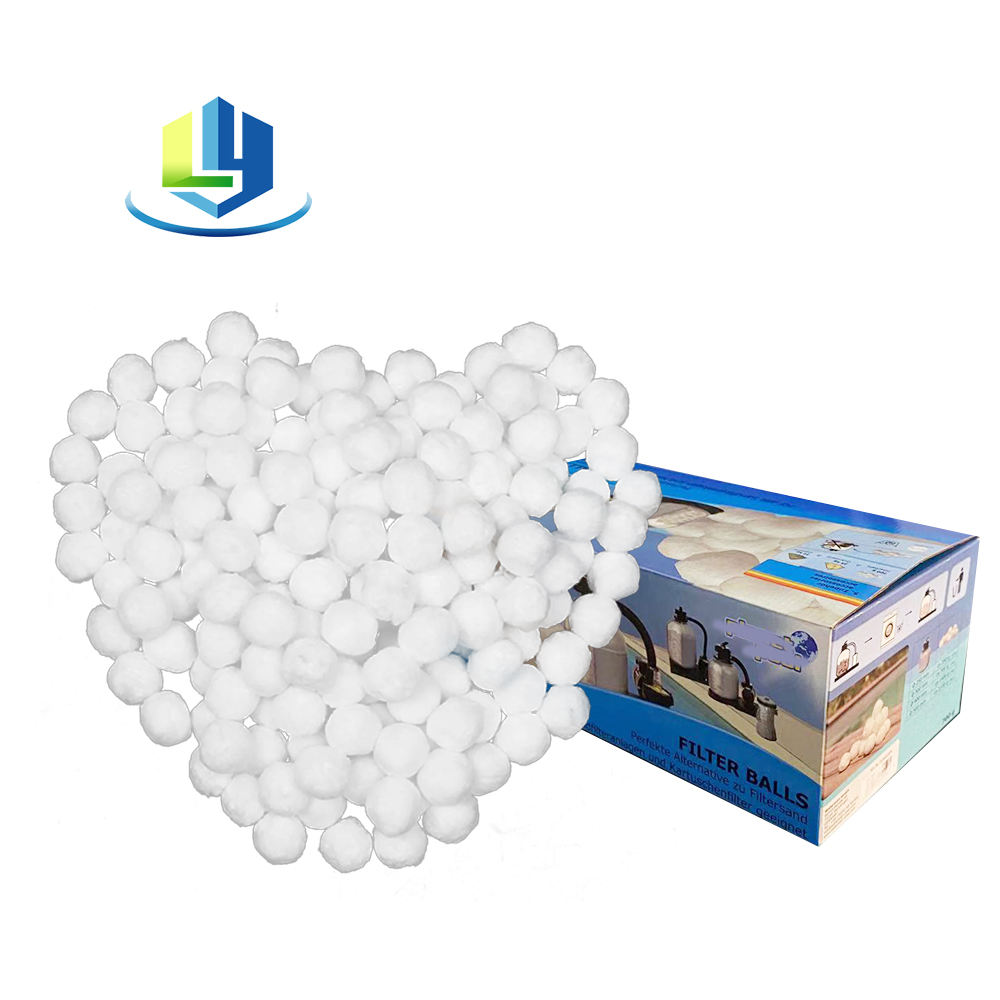 Hot Sale Color Box Polyester Filter Ball Water Filling Material Fiber Ball Filter For Industry Water