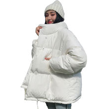 Winter Jacket Stand Collar Female Down Coat Oversized Womens Short Parka