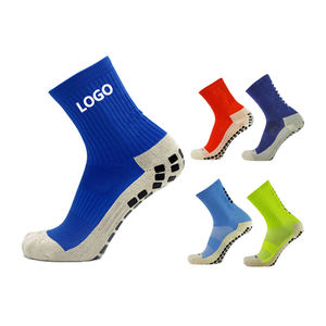 Custom Logo High Quality Nylon Men Tube Football Socks Non Slip Soccer Socks