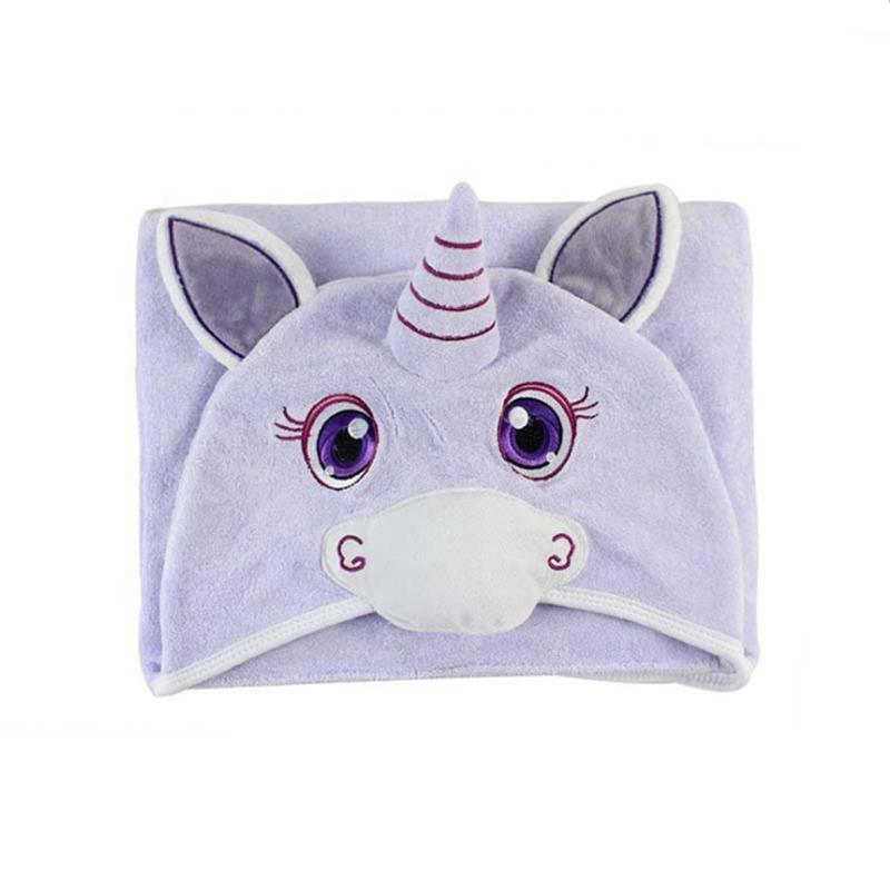 Custom premium 3D unicorn organic bamboo hooded baby bath towel for kids