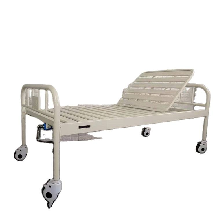 cheap carbon steel folding single crank hospital bed