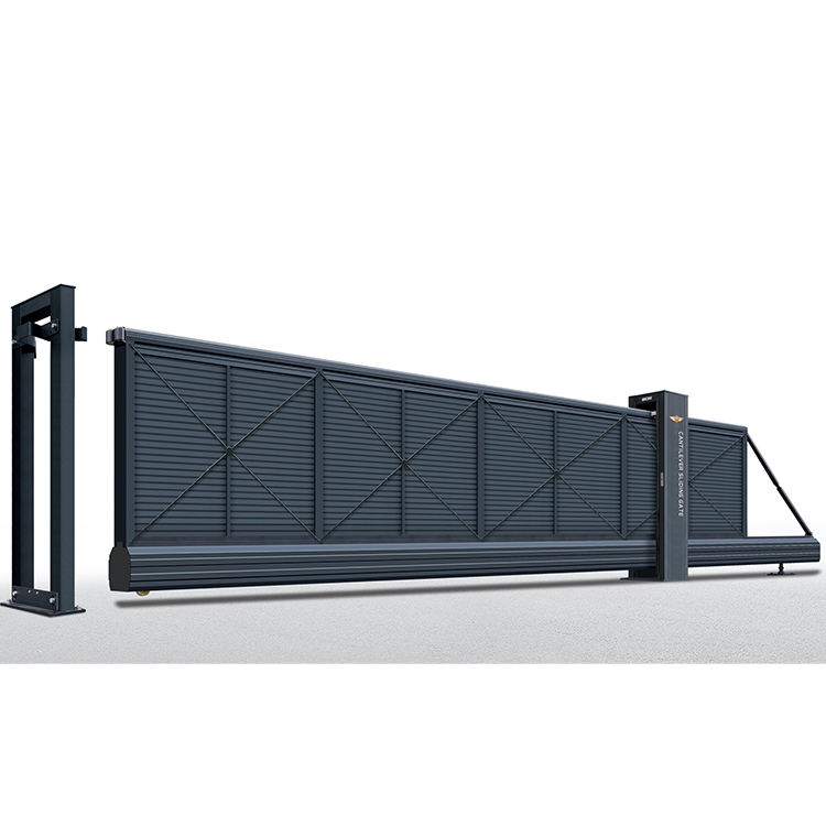 Electric metal door tail sliding gate design and price