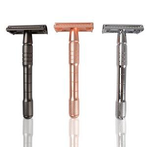 Women Reusable Pink Metal Shaving Safety Razor