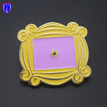 Wholesale movie lover metal enamel lapel pin Friends Monika's golden gate enamel flower lapel pins for fans
