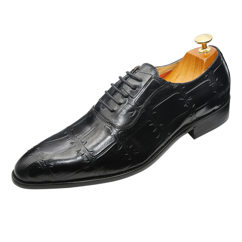 High-grade Italian design Oxford shoes uppers authentic men's leather dress shoes for men