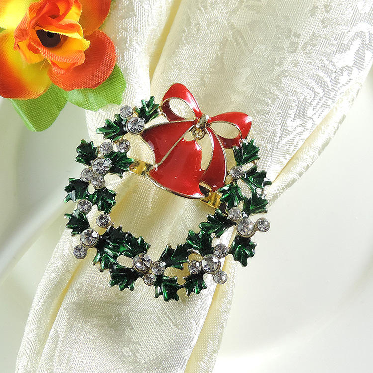 Christmas ornament hotel restaurant dinning table decoration napkin rings