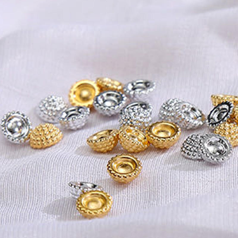 CCB Beads Halfcut Bayberry Ball Imitation Pearl shaped Gold/Silver Beads Fit Jewelry Making