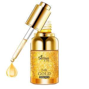 Pelembab Firming Anti Aging Lift 24 K Gold Wajah Serum Minyak Esensial Vitamin C Collagen Wajah Hyaluronic Acid serum