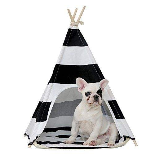Soft fabric dog house pet teepee dog teepee grey pet bed tent