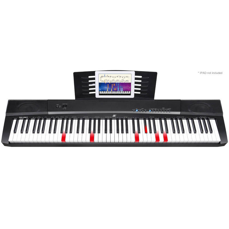 Professional Electronic Piano 88 keys lighting Midi keyboard MEIKE MK-887 musical instruments for sale