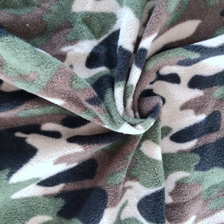 hot sale Camouflage printed polar fleece fabric