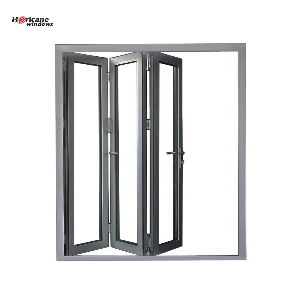 5 Years Warranty [ Glass Doors ] Tempered Aluminium Door NFRC AS2047 Standard Commercial Interior Aluminum Glass Bifold Doors