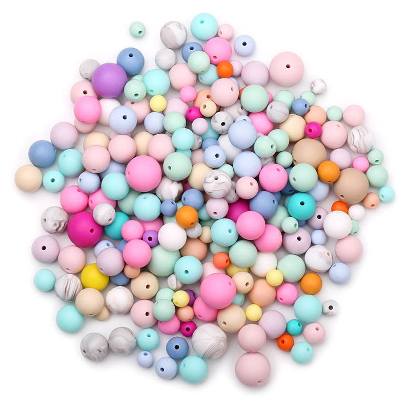 Silicone Bead Wood Bead Wholesale Round Letter Baby Teething Wood Beads Bpa Free Silicone Beads