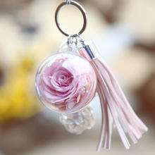 Factory Cheap Wholesale rose flower keychain gfit rose keychain teachers day gift