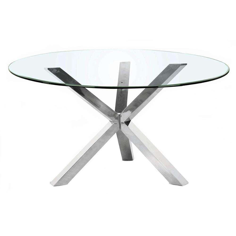 Table Base Spider Pedestal Modern Chrome Decorative Furniture Round Coffee Stainless Steel Metal Dining Restaurant Table Base