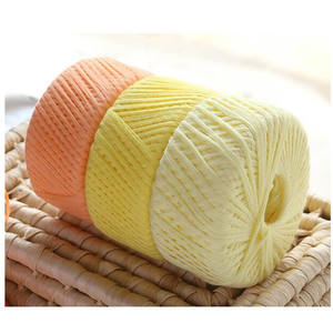 100% cotton yarn 125g Baby wool pure wool Xinjiang combed long staple baby yarn milk