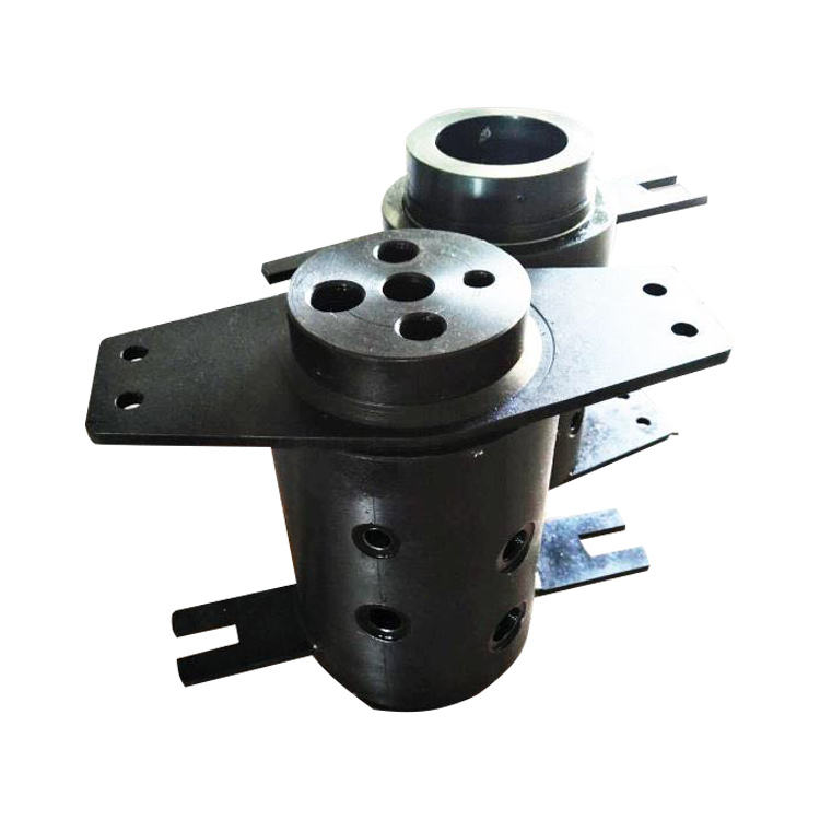 High pressure multi passages fluid central swivel joint fitting for excavators rotary drills