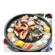 Korean style roast shabu integrated pot multi-function no oil smoke non-stick  dish hot pot BBQ one round dish