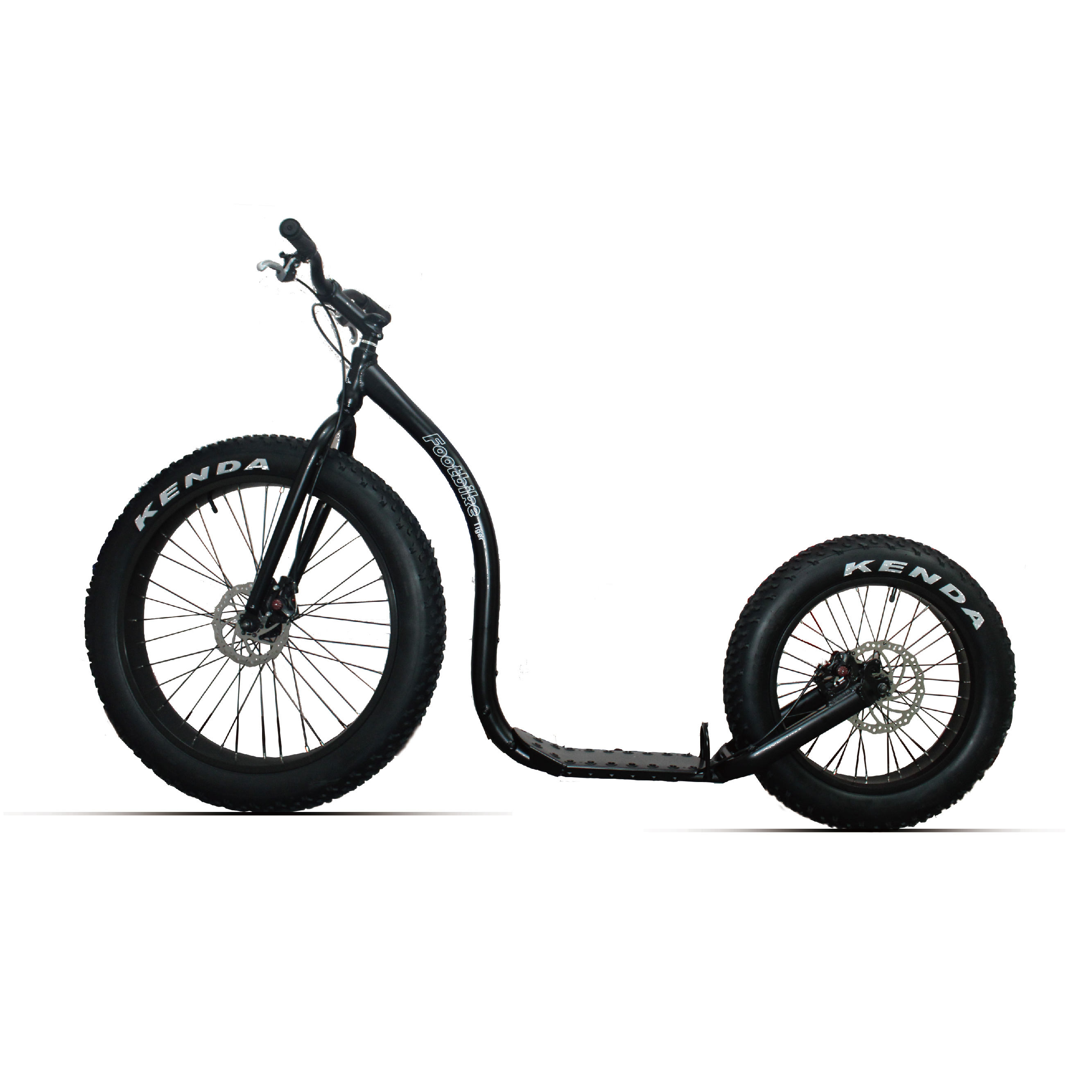 "FOOTBIKE - FAT Wheel Scooter KICKBIKE ADULT DOG SCOOTER 26""*4.0-Tiger(stock)"