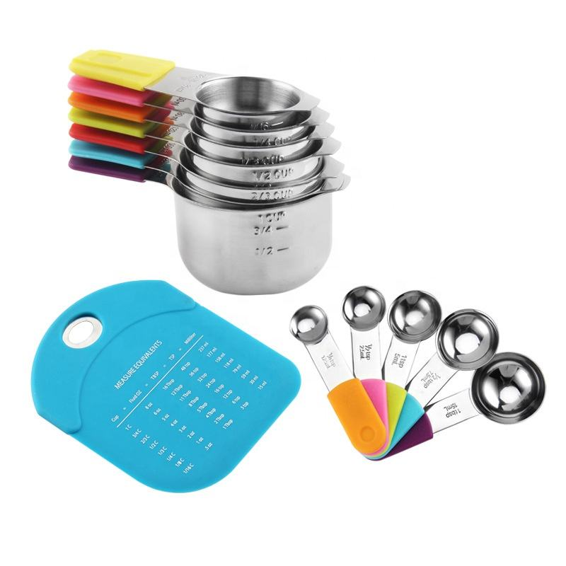 Amazon Stainless Steel Measuring Cup And Spoons Set Measuring Cups Stainless Steel 12 Piece Stackable Set