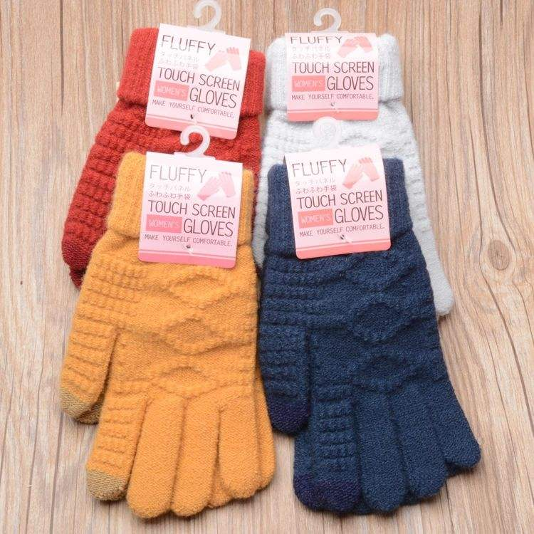 Youki 2019 Winter Magic Gloves/ Touch Screen Women Men Warm Stretch Knitted Wool Mittens Gloves