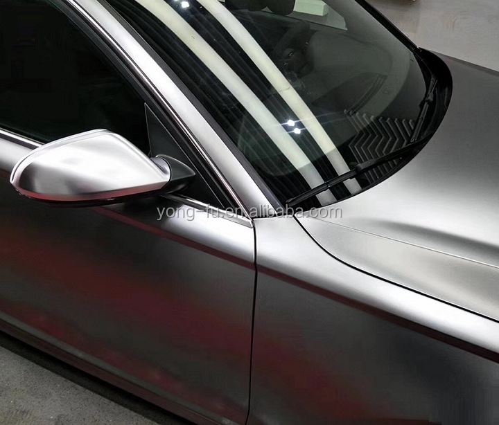 High Performance Satin Metallic Titanium Grey Car Body Vinyl Wrap