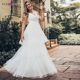 Ever-Pretty EP00869 Double V-Neck Layered Beaded Wedding Dress