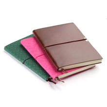 High Quality Personalized Printed Logo Leather PU Note Book Customized