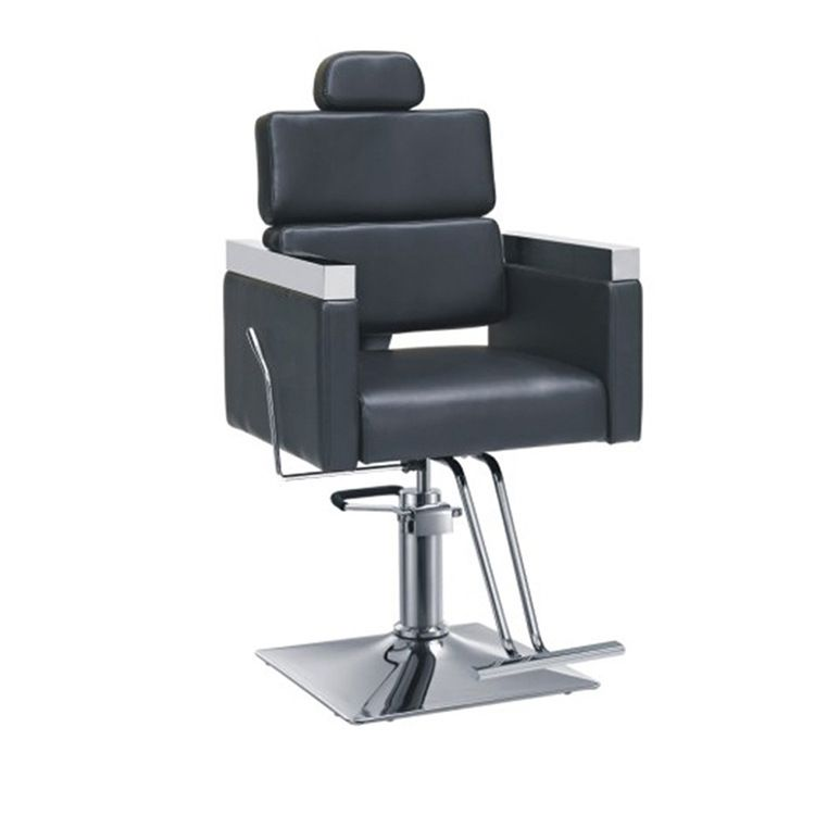 Stainless steel metal base hair salon barber chair retail barbers chairs for sale