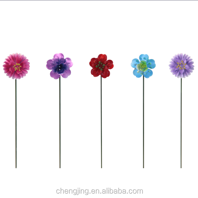 Garden Mini Flowers Metal Stake Outdoor Garden Decoration Home Decoration Metal Wholesale