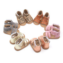 Free Sample Now Custom Logo Tassel Genuine Leather Baby Shoes Summer Baby Sandals For Girls