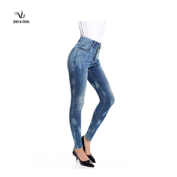 Factory supply high waist jeans for tall women With wholesale price