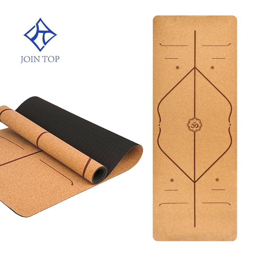 Jointop Sports fitness custom LOGO packaging colour thick bulk natural cork yoga mat tpe cover