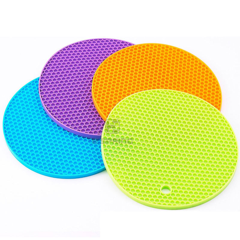 E Spring New products Heat Resistant Kitchen Table Mat, Dinner silicone trivet gray silicone baking mats honeycomb