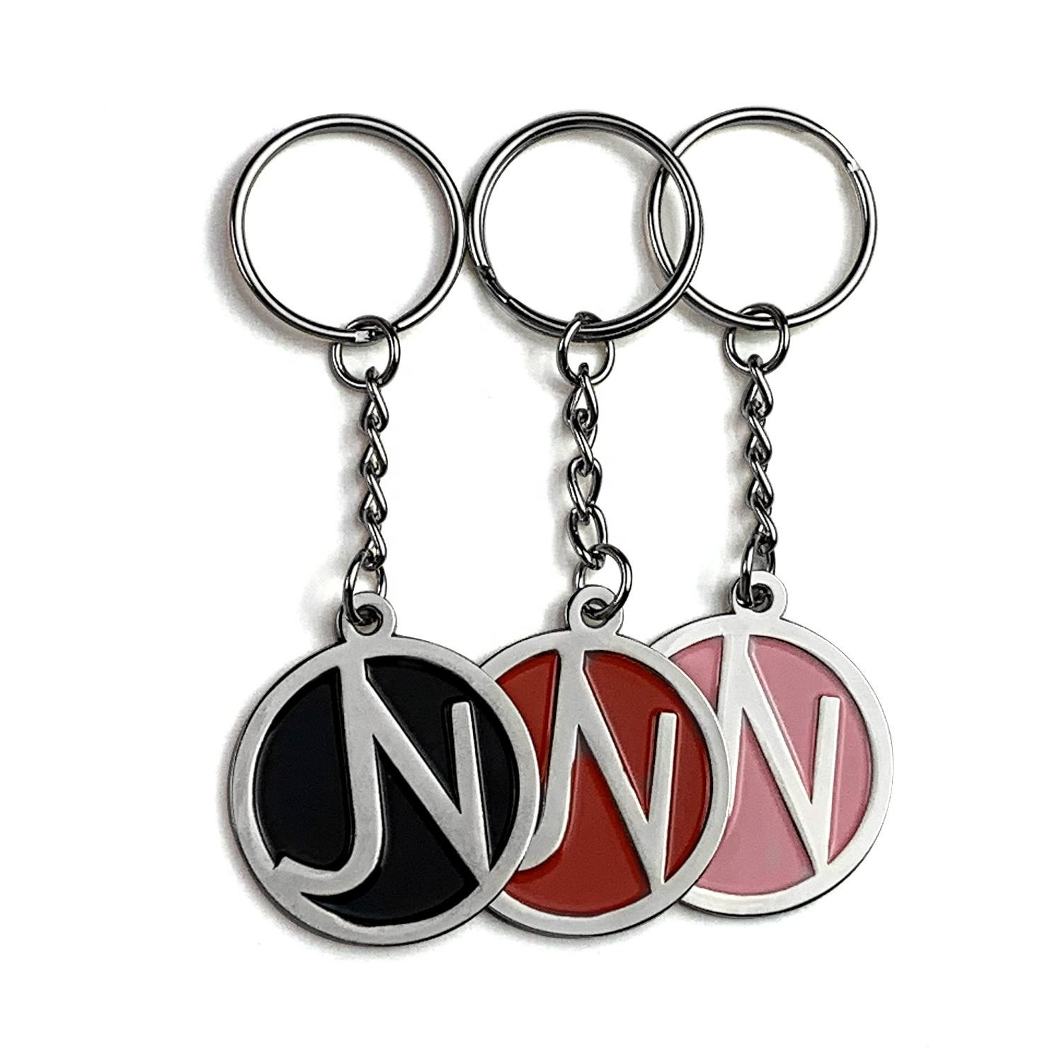 Decorative Accessories Colored Metal Gift Souvenir Enamel Keychain Ker ring Custom Key Chain