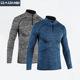 Custom Blank Slim Shirts Men Sport Long Sleeve T Shirt Quick Dry Outdoor Jogging T-shirt Gym Tops Wholesale Sportswear