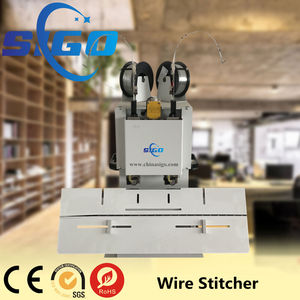 SG-200 SIGO Professional Double Head Wire Stapler Machine Saddle Wire Stitcher