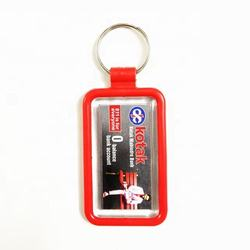 High Quality Manufacturer Of Plastic KeyChain Custom Logo keyring
