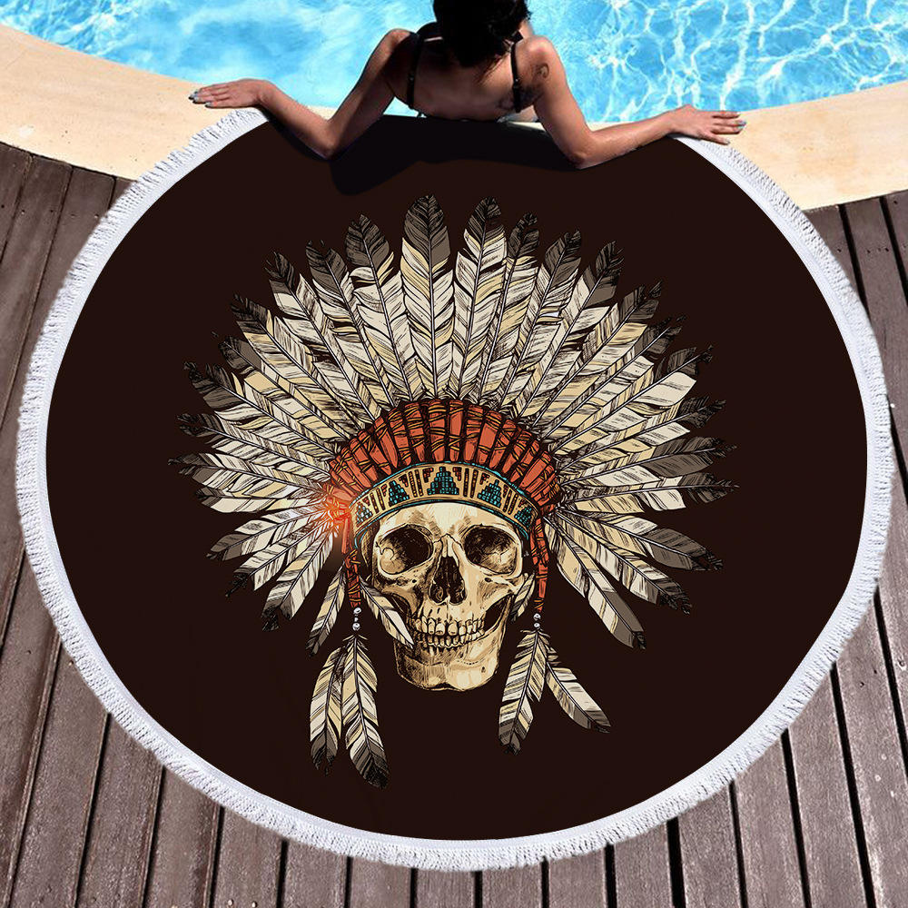 Buti Custom Printed Mandala High Quality Microfiber Round Beach Towel 3 buyers