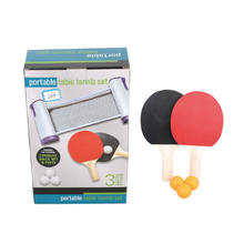 Popular Good Quality Durable Table Tennis Racket With Net Ping-pong Paddle Set