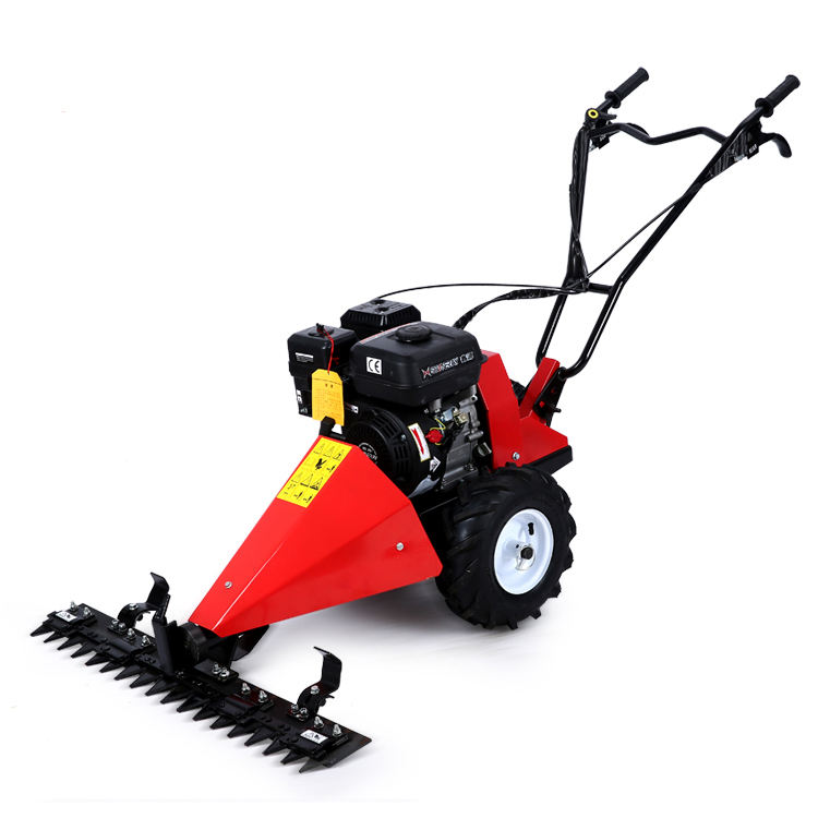 Diesel power scythe mower for garden grass mowing / walk behind sickle bar mower for sale