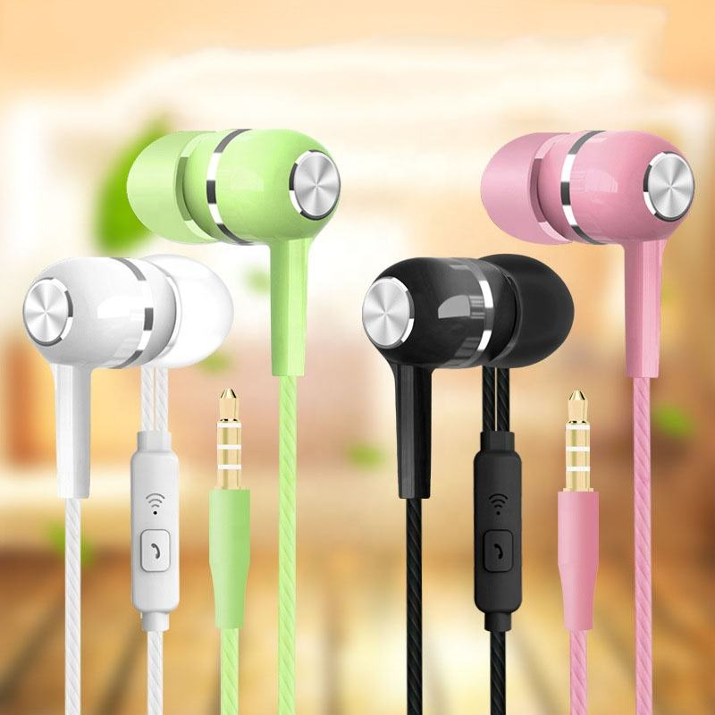 Heavy Bass Earphone Call With Mic Stereo In-ear Earbud Headphones Multi Colors