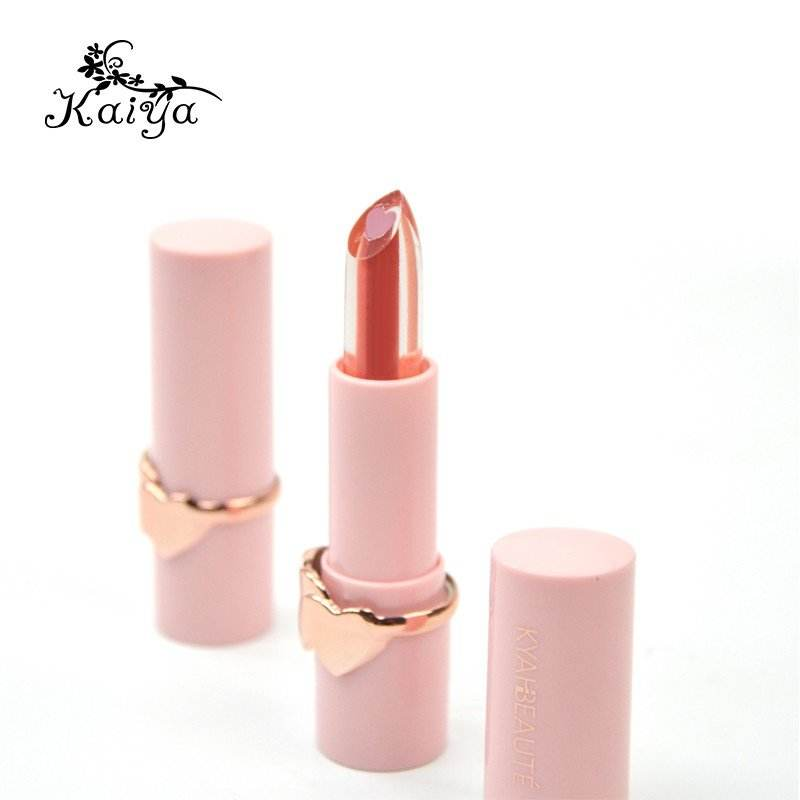 Private Label Custom Makeup Feucht Doppel <span class=keywords><strong>funktion</strong></span> Matt Vegan Lippen balsam Lippenstift Herzform Creme 2 in 1 Sandwich Lippenstift