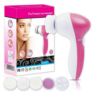 Super 5in1 Electric Facial Cleaning Brush Device Sonic Face Cleansing Brush