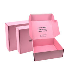 Wholesale Recycled Custom Logo Corrugated Carton Box Mailer Shipping Box Custom Packaging Printed Pink Apparel Boxes