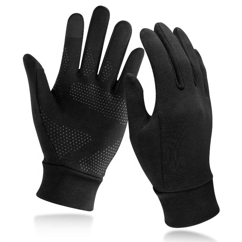 Black Winter Thermal Outdoor Daily Anti Slip Touch Screen Sport Fishing Bicycle Camping Gloves