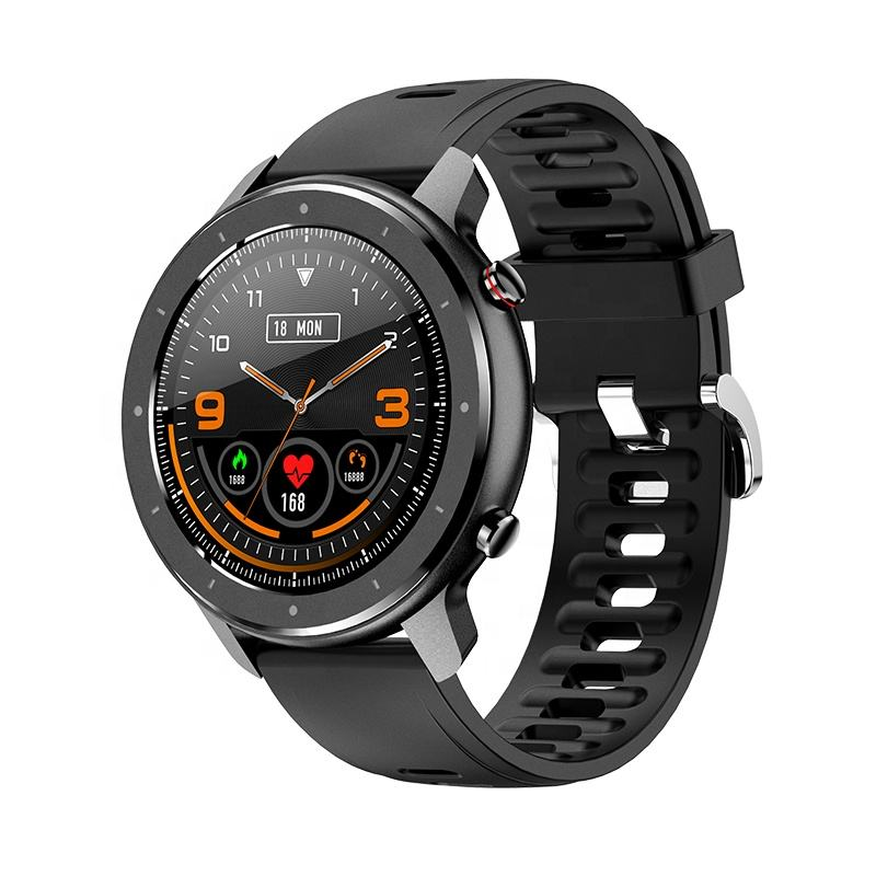 2020 F12 Smart Watch 1.3 Inch Full Round Screen Full Touch Heart Rate Monitor Sports Business Smart Watch